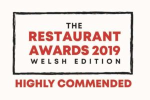 The Restaurant Awards 2019 Welsh Edition - Highly Commended logo